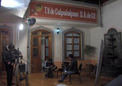En Tv de Calpulalpan en Diciembre del 2008